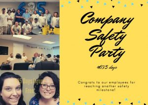Company safety party #635 days