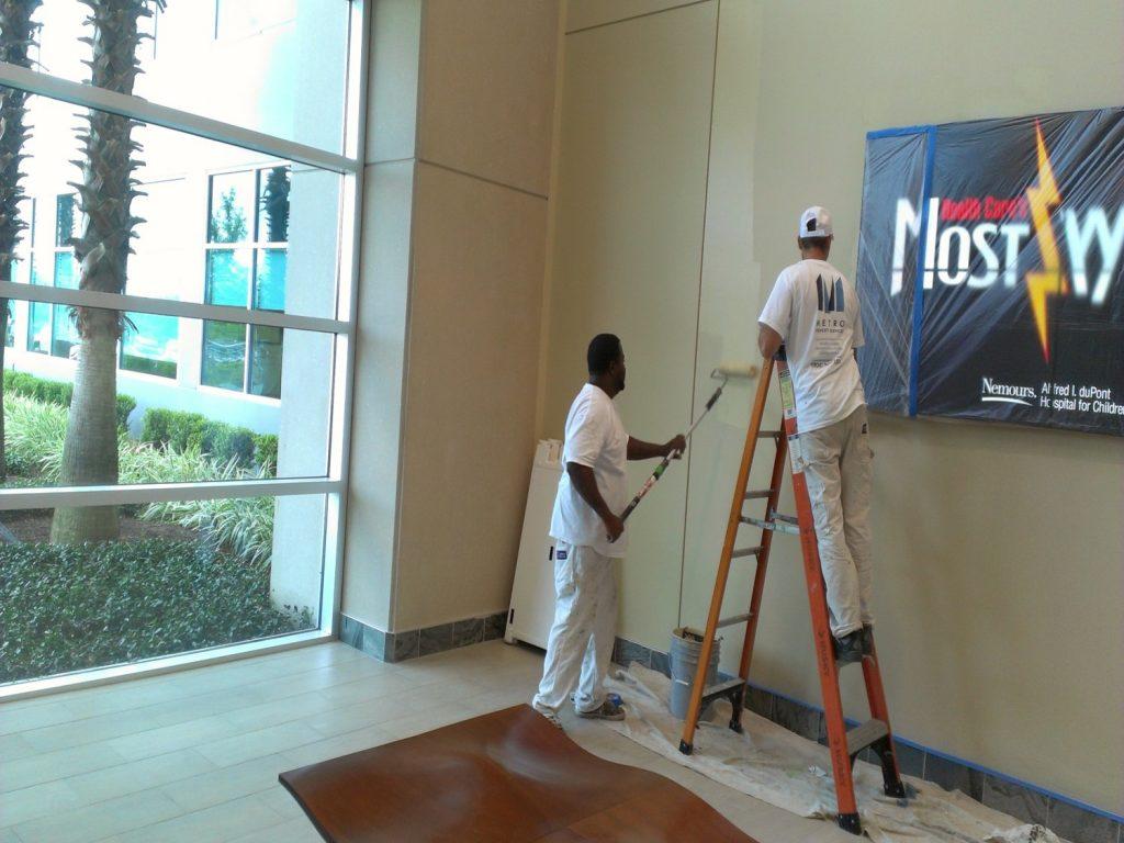 Interior lobby painting