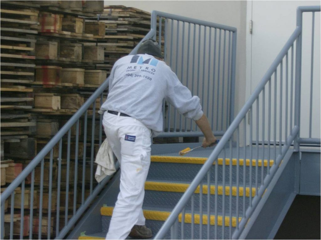 Warehouse stair painting