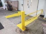 Safety yellow curb painting
